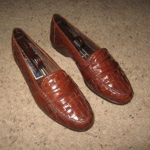 Cole Haan Bragano Woven Loafers - Brown 7 1/2 M